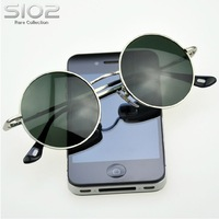 Hot Brand Sio2 Django style vintage man sunglasses circle sun glasses male prince round glasses Fashion casual eyewear