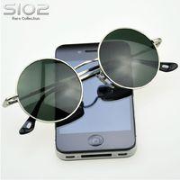 Hot Brand Sio2 Django style vintage man sunglasses circle sun glasses male prince round glasses Fashion casual eyewear