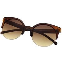 Free Shipping New Unisex Designer Semi-Rimless Super Round Circle Cat Eye Retro Sunglasses B2# 5635