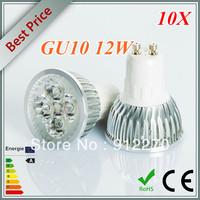 10X High power CREE 12W 4x3W Dimmable GU10/MR16/E27/E14/B22 Led Light Lamp Spotlight led bulb