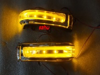 LED rear-view mirror lights; turn signals, daytime running lights, DRL case for Toyota HIGHLANDER RAV4 ALPHARD NOAH ESTIMA etc.