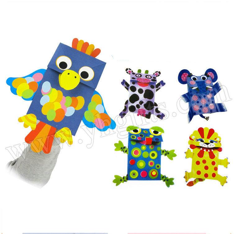 5 Design Lot Paper Bag Puppets Craft Kit Paper Crafts Kids