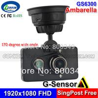 "Car Camera HD Vehicle Recorder Cam GPS 3.0""LCD 1080P 30FPS H.264 CAR BLACK BOX  IR Night Vision G-sensor Ambarella A2S70 Chip"
