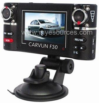 "2.7"" HD Dual Camera Lens Car Vehicle DVR Cam Dash Video Recorder 8 IR Lights SKF30"