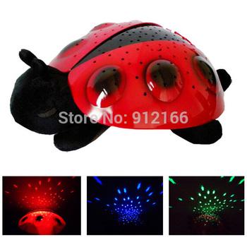 Free shipping Ladybug Night light,Constellation Lamp projector night light similar to turtle light,nice gift for kids