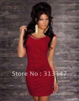 plus XL XXL big size Newest Fashion Knee-Length Sexy Club Party Dress Clubwear Ladies Mini Short Dresses free shipping N82