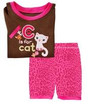Quality Girl's Summer Lycra Pyjama Sets Boy's Short Sleeve Sleepwear Nightwear, 6 Sizes/lot - GPS001/GPS003/GPS005