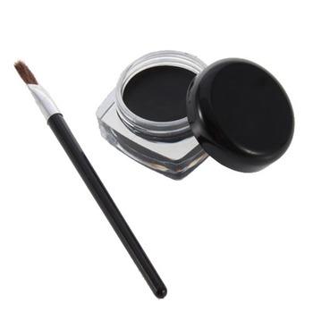 high quality1 set Eyeliner Black Eye Liner   Gel Makeup Cosmetic + Brush Worldwide YKS