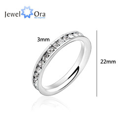 3 pcs wholesale Feminine 316L Stainless Steel .1CT Channel-Set Eternity Ring, Free Shipping, #RI100189 4 colors(China (Mainland))