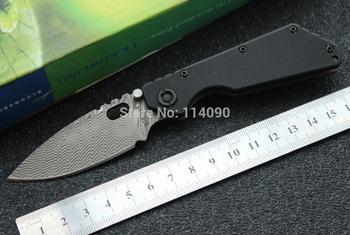 Free Shipping Custom Made Mini Titanium + G10 Damascus 6.5'' Strider  SNG-PT Damascus Style Folding Knife