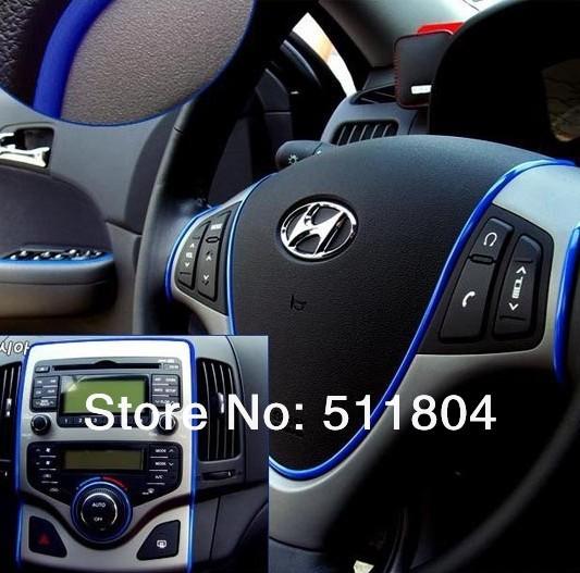 Car Chromium Styling Strip, Instrument Auto Body Chrome Trim Stripe Interior Exterior Accessories 5 Colors 5M/ Lot(China (Mainland))