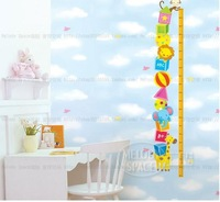 Free shipping Specification: 65 * 165 cm IHome  Park children room cartoon Height Wall sticker #H0072