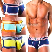 Free Shipping!! 3 Pieces / lot High quality Cotton shorts Men's underwear Men's Boxers Mix Colors C-15