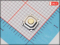Wholesale (1000Pcs/lot) 4mm*4mm*1.5mm Copper Button Waterproof Dustproof SMD Micro Push Button Tactile Tact Electronic Switch