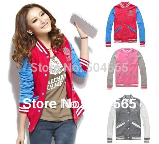 2014 New Sweatshirt Sport Suit For Women Fashion Hoody Baseball Jersey Jackets Autumn Hoodies Casual Cardigans S/M/L/XL CO-106(China (Mainland))
