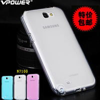 Vpower For Samsung Galaxy Note 2 case, N7100 case, galaxy note ii TPU case  with Screen protector retail packing Free shipping