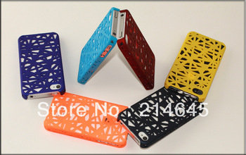 A4  Free shipping! Colors Luxury Bling With plastic Case Cover For Apple iPhone 4 4G 4S   10pcs/lot