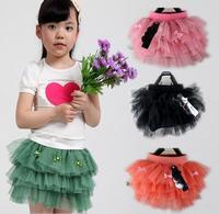 2014 new 4 colors tutu skirts for girls children's wear girl's chiffon dance skirt 11-014