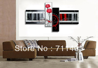 3 Size Free shipping/ Framed hand Hand-painted Abstract 4pcs Group Oil Painting on Canvas Art home decoration/A-021