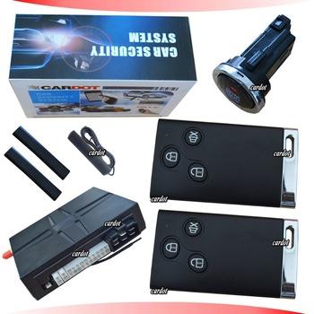 Hot Selling  Passive keyless entry GPS car alarm,bypass module,learning code,mobile start,remote start,back up battery siren