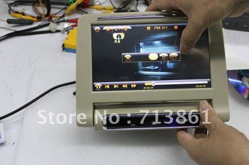 8 inch HD digital (800 x 480)touch screen car headrest monitor with USB,SD and MP5 function and install bracket (812A)