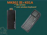New arrival!!Rikomagic MK802 III Dual Core Mini Android 4.1 PC RK3066 1.6Ghz Cortex A9 1GB RAM 8G ROM HDMI [MK802-III+K01A]