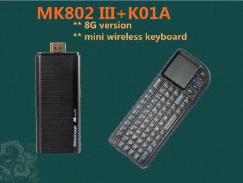 Rikomagic MK802III Dual Core Mini Android 4.2 PC RK3066 1.6Ghz Cortex A9 1GB RAM 8G ROM HDMI [MK802III+K01A]