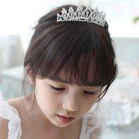 Free Shipping 6pcs/lot Fashion Children Jewelry Crystal Kids Crown Princess Tiara Wedding Girls Head Piece Christmas Gift
