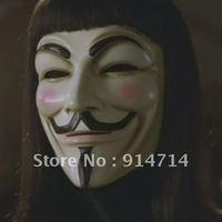 50 pcs/lot Quality YELLOW Plastic Vendetta Guy fawkes Mask
