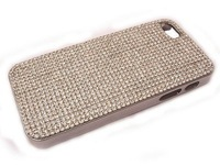 luxury Plating Rhinestone Bling crystal Hard Back Skin Case cover for iPhone 5 5G