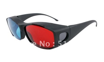 Re-useable Plastic Anaglyphic 3D glasses/3D NVIDIA VISION DISCOVERY 3D glasses for 3D PC/Computer Retail Free Shipping