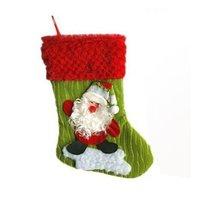 Free shpping, fabric Christmas socking, santa sock, decorations,Christmas gifts, santa snowman and reindeer pattern