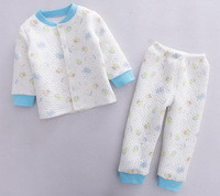 Baby Boy's Cartoon Air Cotton Sleepsets Infant Winter Thick Pajamas Suit, 7 Sets/lot in 4 Sizes - CMBS11/CMBS12/CMBS14/CMBS16