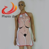 Novelty Sexy Funny Naked Willy Women Apron Night Party Fancy Dress Newest cooking kitchen apron sexy apron adult party Product