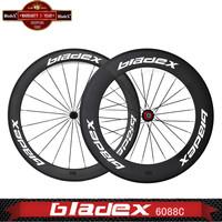BladeX PRO  T/T CARBON CLINCHER WHEELS 46088C - Triathlon Time Trial Wheels;Ceramic Bearings; Basalt Surface; Bicycle Wheel