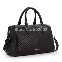 FREE SHIPPING Hot Celebrity Studs Bag Big Handbag Design PU Leather Bag folded Black