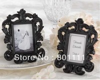 "Free shipping  wedding gifts  wedding favor  Wholesale ""Black Baroque"" Elegant Place Card Holder  Photo Frame, Home decoration"