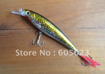 Great rapala lures 24pcs 4.4in/0.46oz Two Hooks 3D Laser Eye  Minnow Fishing Lures/baits
