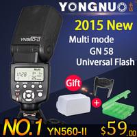 2015 New Yongnuo YN-560 II Flash Speedlite for Canon Nikon Pentax Olympus DSLR Cameras YN-560II YN 560 II , YN560-II