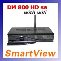 1pc 800HD se decoder DM800HD se with wifi dm 800se SIM2.10  800se support wifi digital satellite receiver DM Logo free shipping