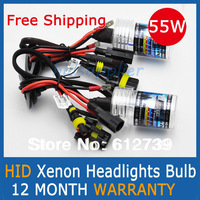 Free Shipping 55W AUTO HID XENON BULBS Xenon Car Lamps Headlights Fog Light 2 Pcs H1 H3 H7 H11 H8 H9 HB3 HB4 9005 9006
