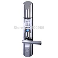 LE211 Stainless Steel Waterproof Door Handle Lock Code Security House Villa Outdoor Fingerprint Door Locks