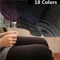 18 Colors 2014 New Autumn-Winter Women's 120D Velvet leggings Fashion Slim Hemp Type Grain Pattern Stockings Leggings For Women