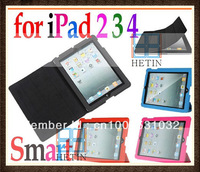 Slim Magnetic Smart Cover Case Stand for Apple New iPad 2 3 4 3rd Gen Tablet PC , Free / Drop Shipping Wholesale