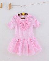 conjunto infantil meninas girl pink dress flowers baby girls dress lycra dresses novelty girls vestido longo dress bottom price