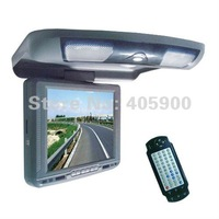Digital Screen 10.4 inch HD Car flip down/roof mount DVD player with USB/SD/IR/FM transmitter/32bits Games