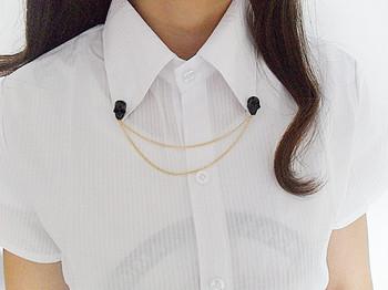 #  HS045  Cheap Jewelry Fashion   shirt collar punk skull skeleton  wholesale charmsTAA-3.00