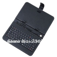 FREE SHIPPING Cheaper Leather case & tablet cover with keyboard for 7 inch tablet PC   FREE SHIPPING