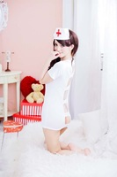 Free shipping,lovely white kimono women nurse cosplay uniform costume lingerie underwear,lingerie for women free size 8128