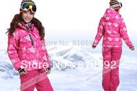 HOT!!! 2014  outdoor ski suit set outdoor jacket windproof waterproof thermal cotton-padded jacket 4 colors